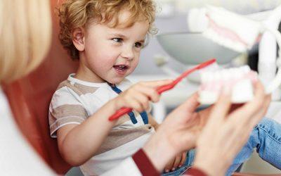 Los niños y el cepillado dental